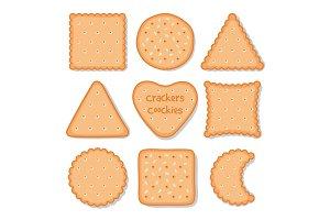 Biscuit cookie snacks. Vector