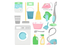 Household cleaning. House clean