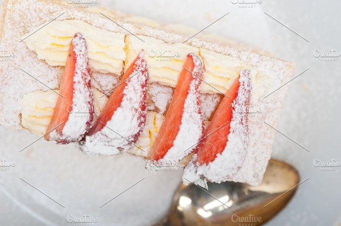 napoleon strawberry cream cake dessert 011.jpg - Food & Drink
