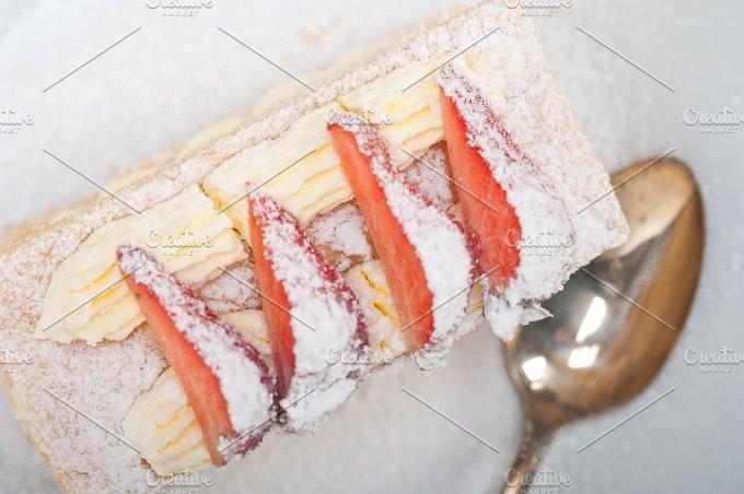 napoleon strawberry cream cake dessert 012.jpg - Food & Drink