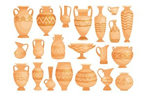 Greek vases. Ancient decorative pots