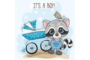 Greeting card its a boy with baby