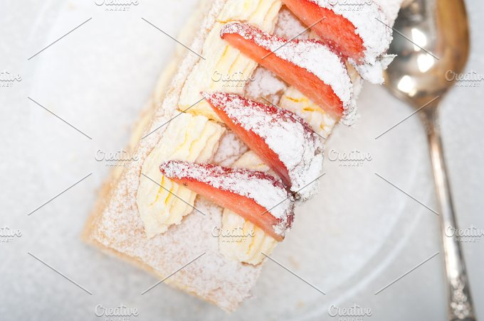 napoleon strawberry cream cake dessert 013.jpg - Food & Drink