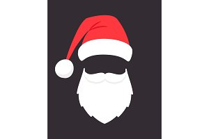 Santa claus mask. Christmas