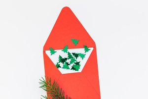 Christmas decoration pattern on whit