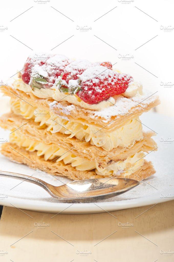napoleon strawberry cream cake dessert 024.jpg - Food & Drink