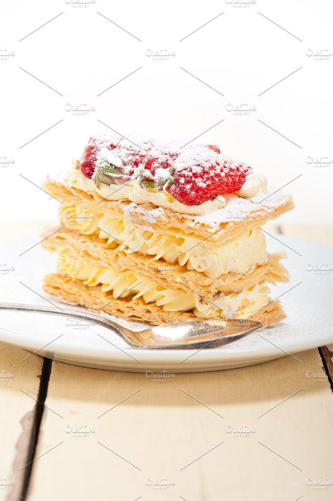 napoleon strawberry cream cake dessert 025.jpg - Food & Drink