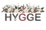 Hygge lettering with floral