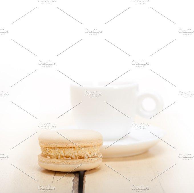 macaroons and espresso coffee 003.jpg - Food & Drink