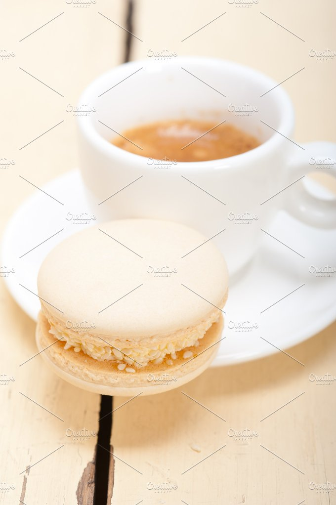 macaroons and espresso coffee 008.jpg - Food & Drink