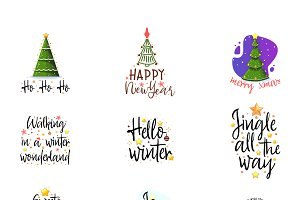 Christmas Big Lettering Kit