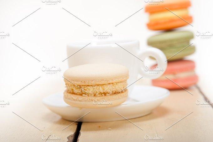 macaroons and espresso coffee 018.jpg - Food & Drink