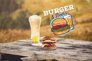 Burger & Beer Mock-up #10