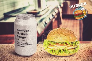 Burger & Beer Mock-up #8