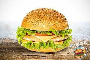 Burger Mock-up #7
