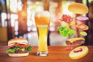 Burger & Beer Mock-up #6