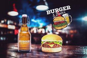 Burger & Beer Mock-up #3