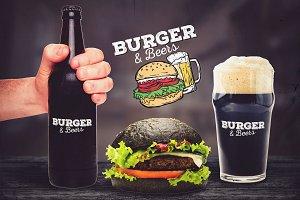 Burger & Beer Mock-up #2