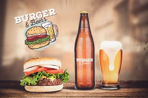 Burger & Beer Mock-up #1