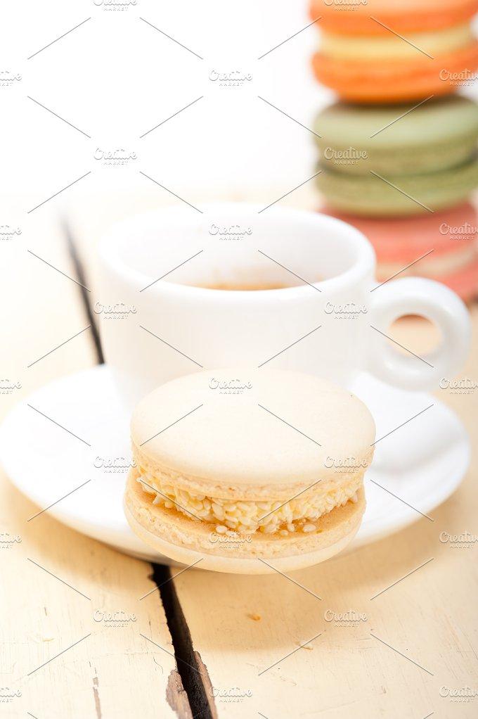 macaroons and espresso coffee 020.jpg - Food & Drink