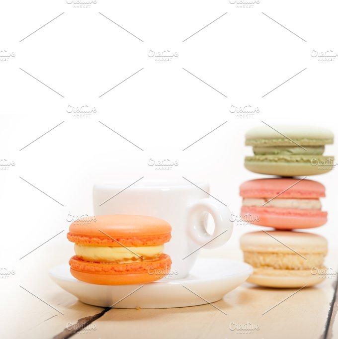 macaroons and espresso coffee 021.jpg - Food & Drink