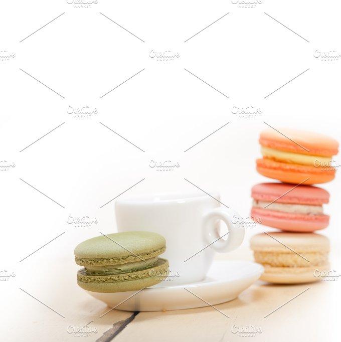 macaroons and espresso coffee 022.jpg - Food & Drink
