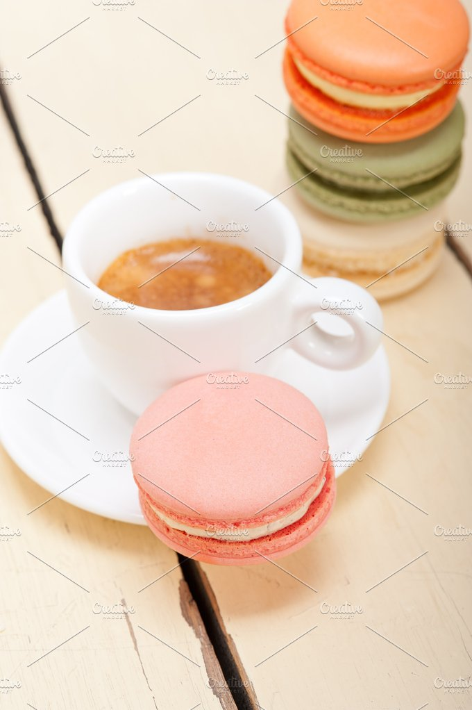 macaroons and espresso coffee 027.jpg - Food & Drink
