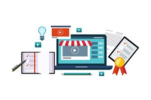 Business online, internet shopping