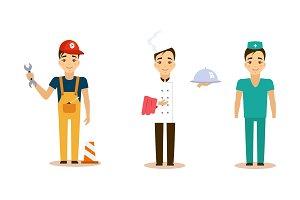 Men of different professions set