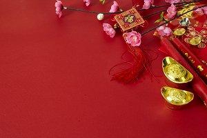 chinese new year festival plum flowe