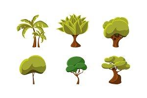 Set of green trees. Natural