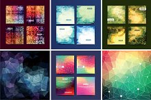 18 Polygon Backgrounds in Vector