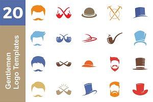20 Logo Gentlemen Templates Bundle