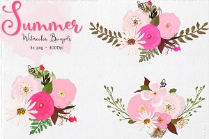 Summer - Watercolor Bouquets
