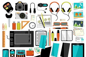 Office items and accessories.