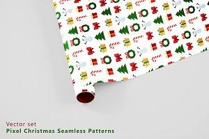 Pixel christmas patterns