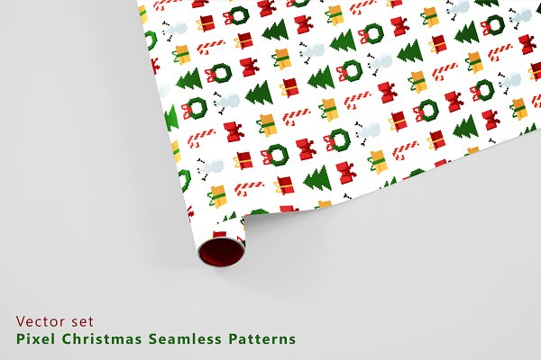 Graphic Patterns: Alena Stoyko design - Pixel christmas patterns