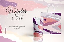 Winter Set by  in Graphics