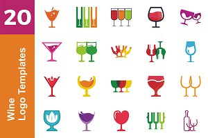20 Logo Wine Templates Bundle