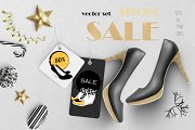 SHOES on Christmas SALE. vector