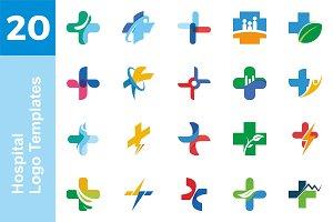 20 Logo Hospital Templates Bundle*