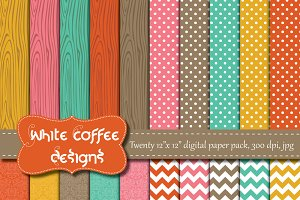 Cheerful Woodgrain paper