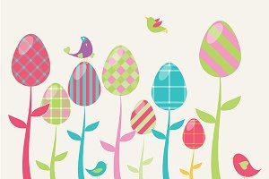 Easter Greeting Card Elements, Vol 1