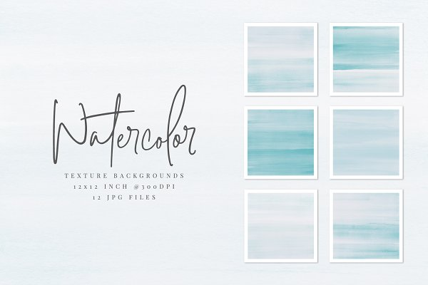 Light Blue Watercolor Backgrounds