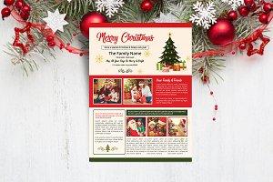Christmas Newsletter Template V914