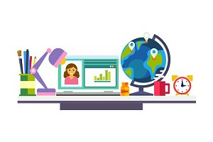 Elearning, online education process