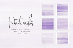 Purple Watercolor Texture Background