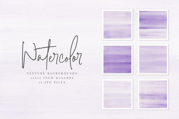 Purple Watercolor Texture Background