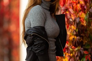 Photo of long-haired brunette in