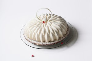 Vanilla Red Currant Mousse Cake